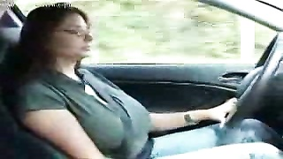 big knockers Brunette Groped in Car Thumb