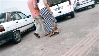 sweet arse Turkish dame Walking on Street Thumb