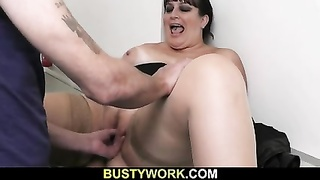 BBW is doggystyled at interview Thumb