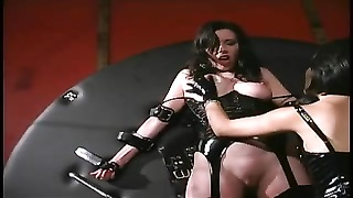 asian dominatrix playing with the slave's beaver Thumb