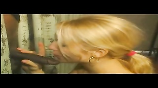 blonde deep-throat dark chisel in jail + threesome Thumb