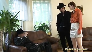 young Boytoy in three-way with boss Thumb