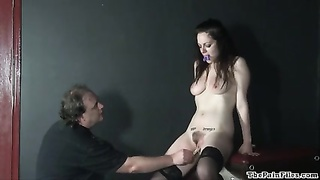 merciless toys and painful cumming of whipped inexperienced slavegirl Thumb