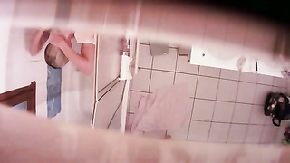Hidden cam - teenage  in bathroom Thumb
