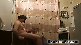 Russian amateurs kitchen pulverize Thumb