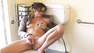 onanism  solo of my brunette roommate in bathroom Thumb