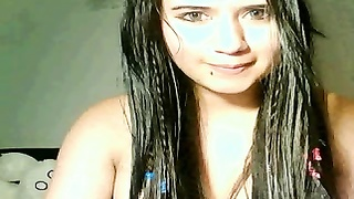 lovely Latin teenage  Play With twat On Cam Thumb