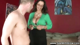 huge-titted beautiful mom gives daughter the details on honest dicksucking Thumb