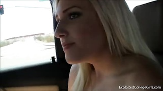 Ditzy ASU blonde 18 gives sweet roadhead Thumb