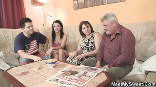 innocent damsel is seduced by her BF's parents Thumb