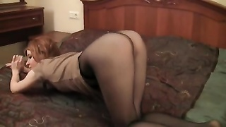 More tale pantyhose demonstrating Thumb