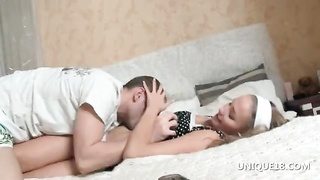 Sporty Irene gets orgasmic verbal hook-up  in bed Thumb