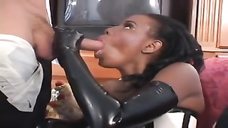 dismal whore in latex deep throats and pounds white chisel Thumb