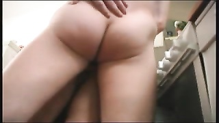 old Mom and her bf in the kitchen! Russian amateur! Thumb