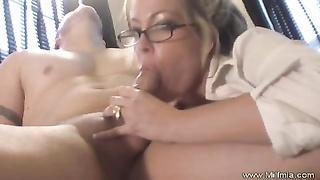 milf Secretary With Glasses pulverized Thumb