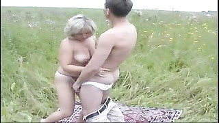 former Mom and her boy on nature! Russian amateur! Thumb