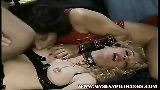 Pierced whores in lates and stockings pulverized in donk and fuckbox Thumb