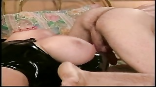 blondy gets mouth  cootchie and melons pulverized on the bed Thumb