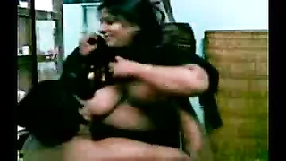 big-boobed indian Aunty's large titties throating by Neighbor Thumb