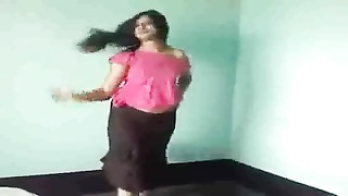 cute indian female inform her figure infront of CAM Thumb