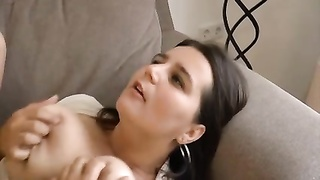 huge-boobed  and hairy damsel penetrated Thumb