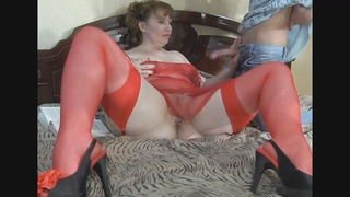 A chubby Redhead-Russian-MILF anal by youthful dude Thumb