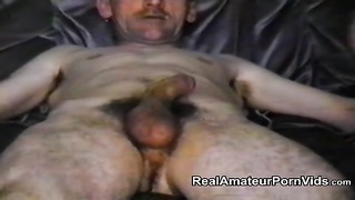 Homemade film of older lovers playing Thumb