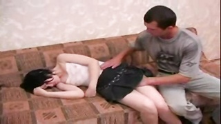 youthful Brunette Sister forced hook-up  By elder Brother Thumb