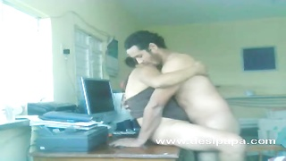 indian inexperienced lovers nawaz and hira sex on a table Thumb