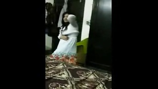 real Pakistani wifey  Dances Before hook-up  With hubby clear Urdu indian cute damsel desi by pornse Thumb