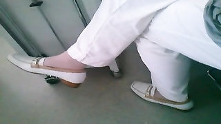 hang with white footwear  listless, shoejob Thumb