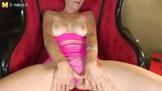 dirty dilapidated mother playing with herself Thumb