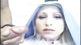 Nun Mary takes host with spunk Thumb