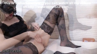 Veneisse anal invasion fisting & enormous fist dildo & large ass fucking trip Thumb