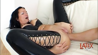 anal fisting and vagina fisting in a double going knuckle deep  session Thumb