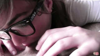 PutaLocura teen inexperienced gets cum on her glasses by Torbe Thumb