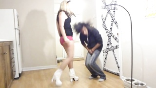 Ballbusting - teenage  White shoes cruel Shots to the testicles! Thumb