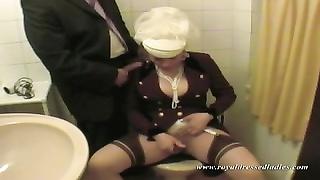 fair masturbate In Toilet With A wicked girl Thumb