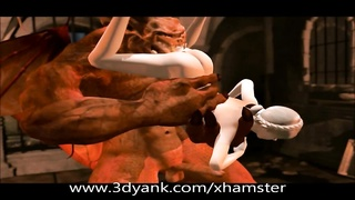 3D lively Demon tearing up and Goblin anal invasion Thumb