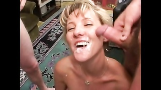 BUKKAKE BY THE SHORTHAIRS blondie two Thumb