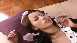 Japanese adorable Maid - Bukkake Thumb