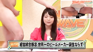 Japanese TV Announcer hottie Bukkake 420 Thumb