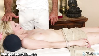 TrickySpa informal blonde friendly Time deep-throating manhood Thumb