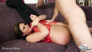 Phoenix Marie Shows Off Her massive melons While She fucks Thumb
