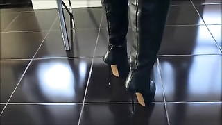 Overknee shoes with outrageous high heels Thumb
