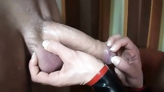 Mistress Amicia in PVC Relieving Her Salve of jizz Thumb