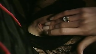British milf Nici Stirling gets penetrated in a bodystocking Thumb