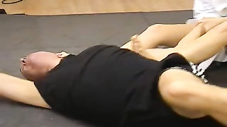 Mixed Wrestling and Foot Fetish with a torrid  Karate Mistress Thumb
