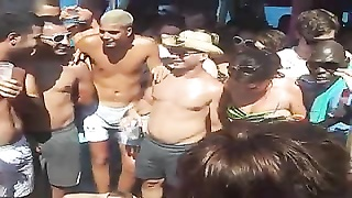 British boat party frolics in Magaluf Thumb