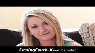 Casting Couch-X blonde Southern bimbo plows for cash Thumb